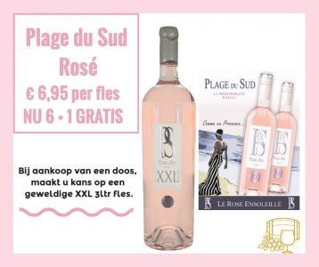 Plage du Sud 6+1 gratis en maak kans op een XXL 3ltr. fles